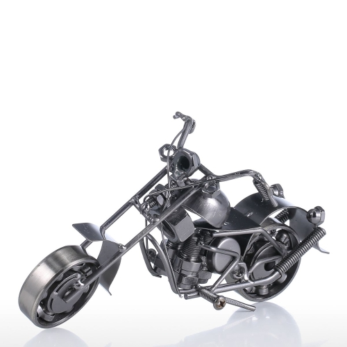 Iron Art Motorcycle Home Decoration Handicraft Modern Sculpture Crafts Gift