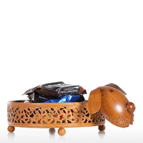 Szczeniak Płyta Składowania Rzeźba Żelazna Figurka Zwierzęca Pula Kreatywnych Praktycznych Prezentów Ornament Craft