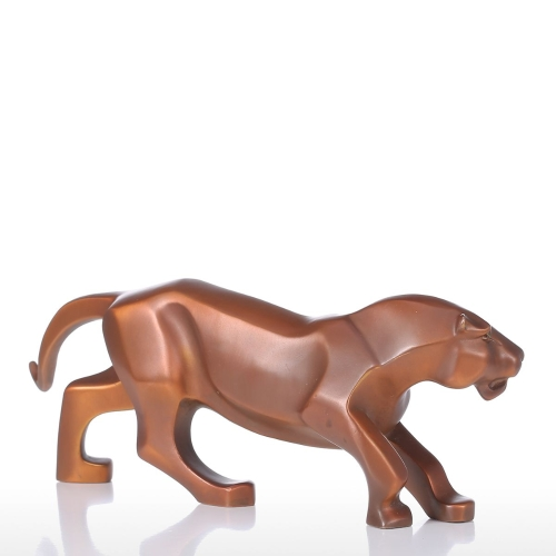 Prowling Leopard Tooarts Handmade Bronze Sculpture Modern Art Home Decor