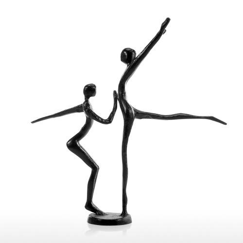 Double danse danse moderne fer sculpture en métal sculpture décoration de la maison décoration d'art cadeau parfait