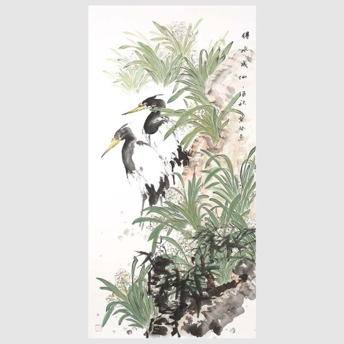 Daffodils and Birds Traditional Chinese Painting Fine Art Painting Wall Art Home Decor