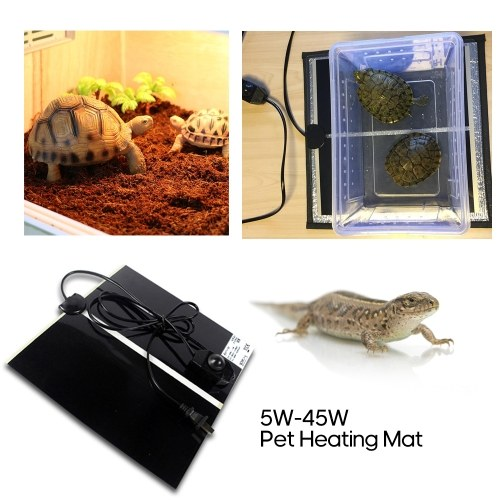 45W Pet Heizmatte Elektrische Heizmatte für Reptilien Heimtierbedarf