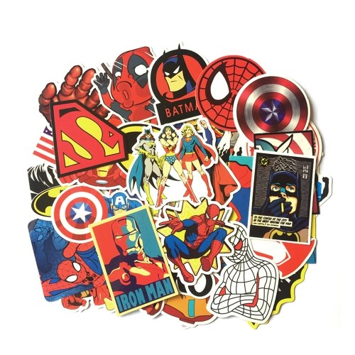 Pegatinas animadas de dibujos animados de 50 piezas