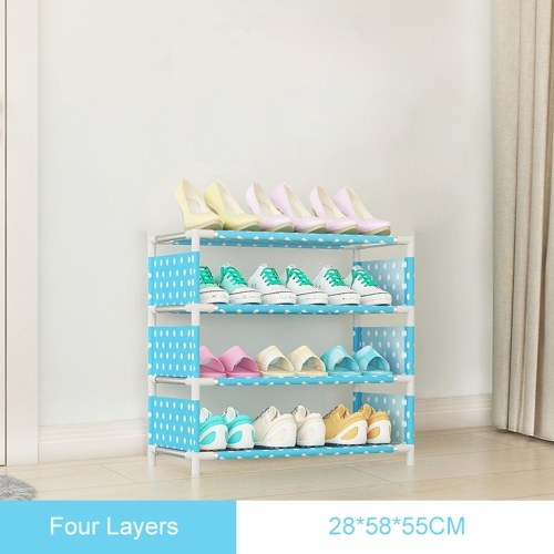 Multi Layer Shoe Rack Non-Woven Steel Pipe