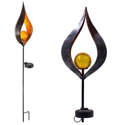 Solar Simulate Flame Light Lampe à gazon solaire