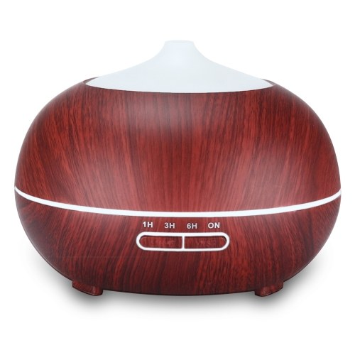 Intelligent Remote Control 400ML Wood Grain Essential Oil Diffuser