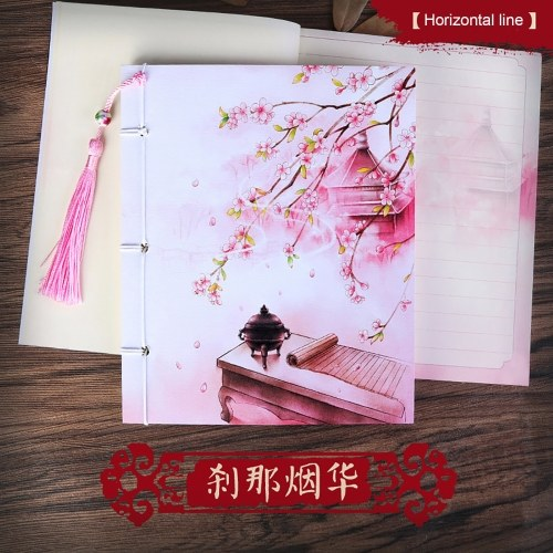 6.9 * 5.9in Portable Notebook 75 Sheets Ruled Lined Paper Color Page