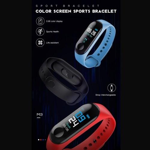 Image of intelligente Armband Farbe Bildschirm Armband Herzfrequenz Sport Schritt wasserdicht Armband Hersteller Black-Line-Gebühr
