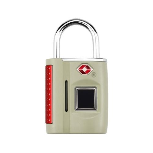 Смарт-ключ без ключа отпечатков пальцев замок TSA утвержден замок Смарт-ключ без ключа сенсорный биометрический разблокировать водонепроницаемый для дорожного багажа сумки чемоданы USB зарядка серебро