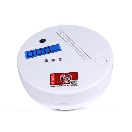 Беспроводной автономный датчик CO газа ЖК-дисплей 85dB Звуковое предупреждение Высокочувствительный детектор обнаружения отравления угарным газом Детектор с питанием от батареи (в комплекте)