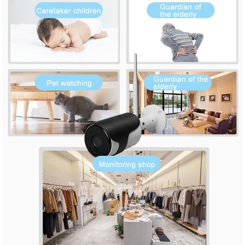 Home Security WIFI Camera 1080P Wireless IP Camera Baby Monitor with Motion Detection Bullet Security Camera, TF Card Record, 2 Way Audio and Night Vision Tuya APP Remote Control for Baby/Store/Office/Pet/Elder Monitoring