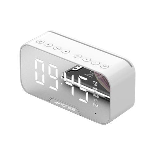 G5 G10 mirror clock wireless bluetooth speaker portable voice collection card bluetooth speaker white