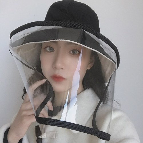 Protective Bucket Hat Mask Anti-fog Anti-virus Full Face Removable Transparent Dust-proof Mask Fisherman Cap Mask