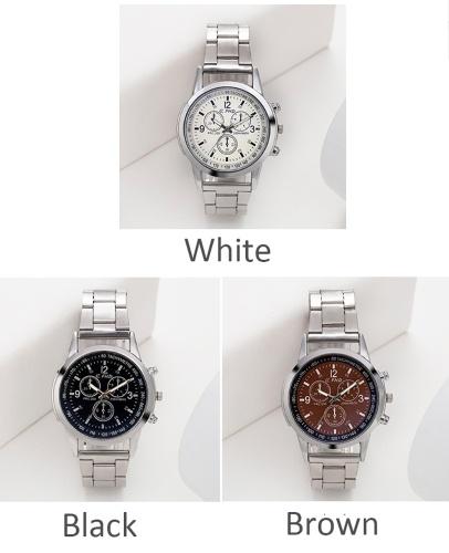 Image of Blu-ray Glas Drei-Augen-Stahlgürtel Uhr Männer Explosionen Geschenke Geschenke Männer Uhren Männer und Männer Uhren Großhandel schwarz