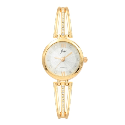 New Bracelet Bracelet Watch Alloy Ladies Watch Point Diamond English Table Factory Direct Spot Wholesale Golden