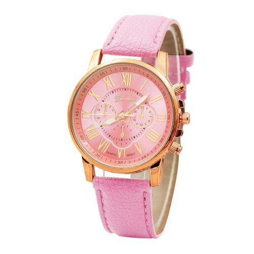 Fashion Europe and America hot sale belt watch female cross-border explosion models ladies watch wish quartz watch factory wholesale Pink