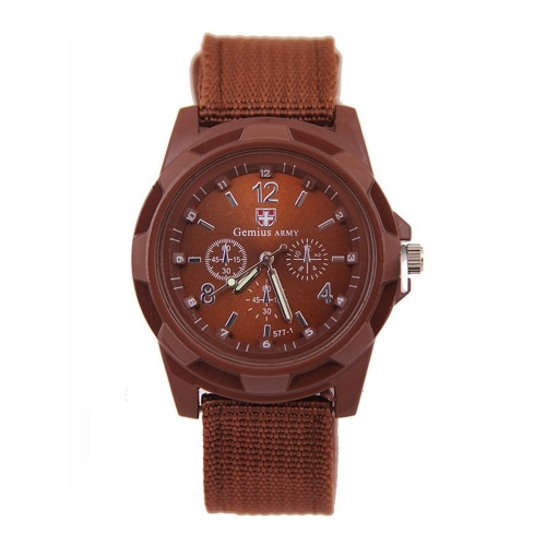Fashionable Stylish Army Military Sport Watch Wristwatch for Men with Knitted Weave Strap Band