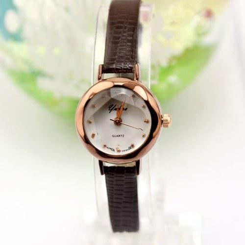 Fashionable Vintage Women Quartz Watch Fashion Watches Wristwatch with PU Strap Band