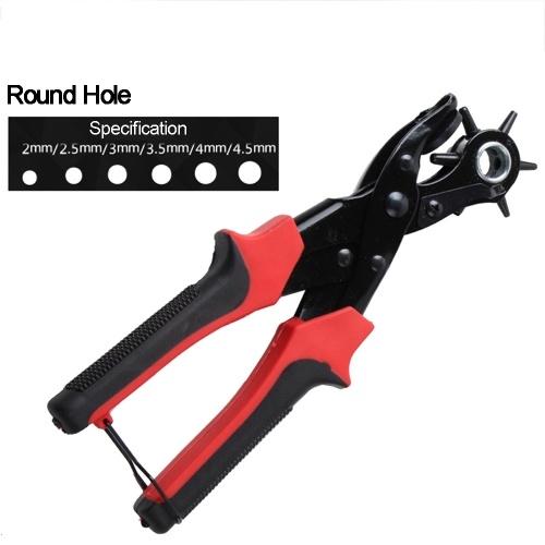 Portable Durable Multi-Function Belt Punch Manual Labor-Saving Round Hole / Elliptical Hole / Flat Hole Punching Forceps