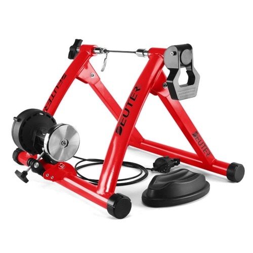 Foldable Magnetic Bike Trainer Stand with 6 Resistance Levels Cycling Rack Indoor Bicycle Exercise Training Stand for 26-28 Inch Bike Tires Image