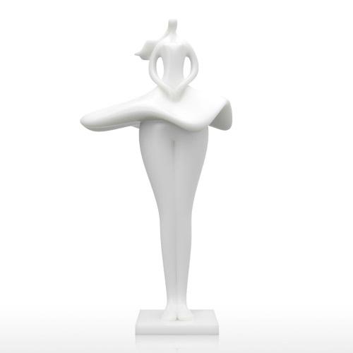Skirt Girl 3D Imprimé Sculpture Décoration intérieure élégant modèle