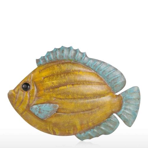 Рыба стены висит 1 Iron Wall Decor Творческий орнамент ремесла стены настройки стены висит морской жизни