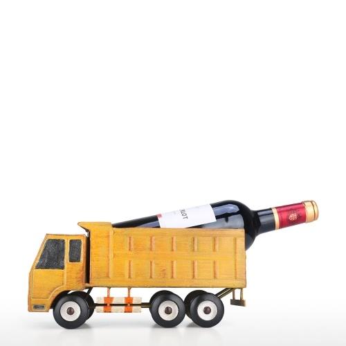 Truck Wine Holder Vintage Fashioned Pickup Truck Wine Rack Long Figurine Wine Bottle Holder
