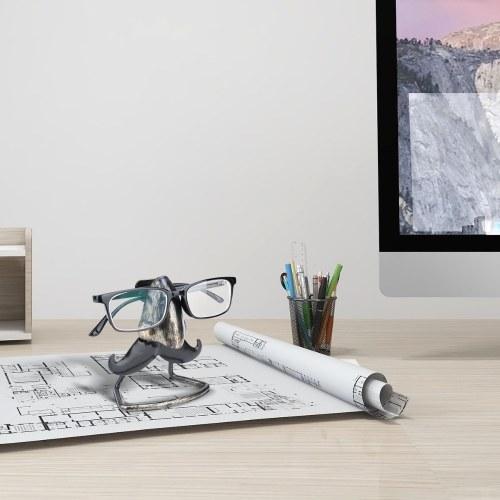 Tooarts Big Nose and Beard Shaped Eyeglass Holder Taste Iron Sculpture Handicraft Sunglasses Display Desk Decor