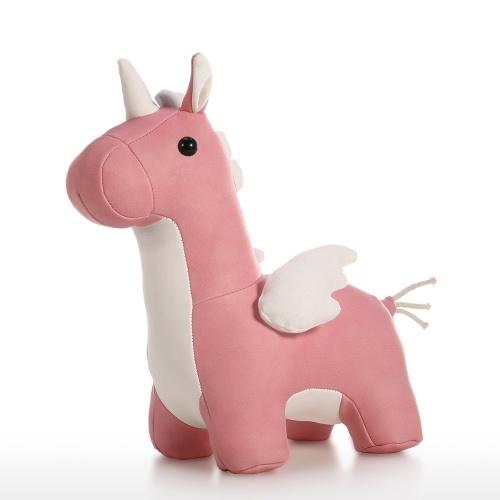 Rolha de porta de couro unicórnio rosa animal bonito brinquedo porta rolha porta decorativa rolha para casa