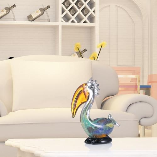 Escultura grande de la boca del pájaro Tooarts cristal Inicio del pájaro de cristal Decoración