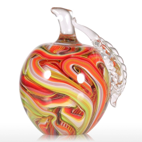 Tooarts Colorful Apple Gift Glass Ornament Handblown Home Decor