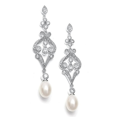 European and American fashion high-end long pearl earrings