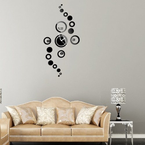 TOMTOP / DIY creative circle digital wall clock wall stickers