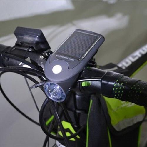 New solar bicycle headlights USB charging bicycle light Image