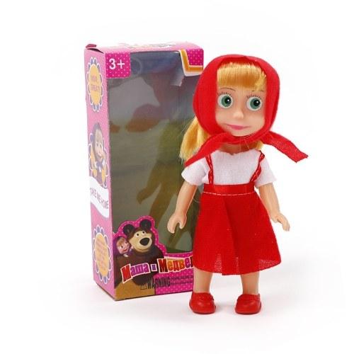 Martha e urso de brinquedo de pelúcia