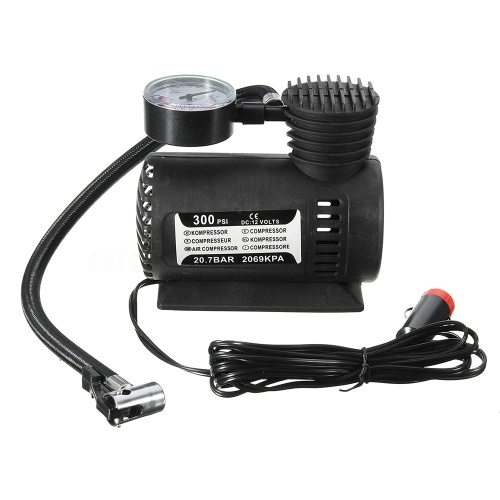 12V Car Auto Electric Pump Air Compressor Portable Tire Inflator 300PSI