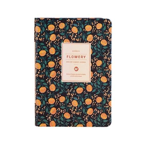 Notebook con copertina in pelle floreale