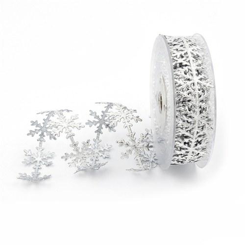 Amazon imitation leather gold silver snowflake ribbon lace