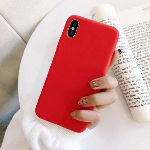 Индивидуальный мобильный телефон оболочки простой просо серии красочные мобильный телефон оболочки новый маленький свежий мобильный телефон задняя крышка защитная крышка темно-серый фото
