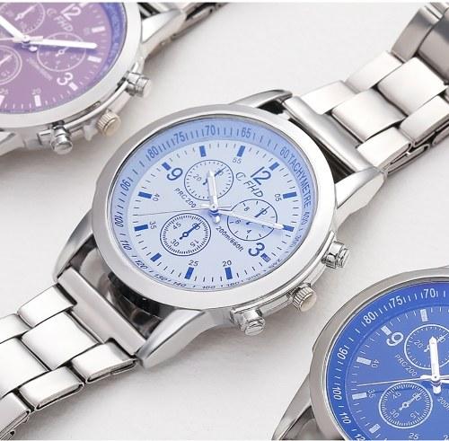 Image of Blu-ray Glas Drei-Augen-Stahlgürtel Uhr Männer Explosionen Geschenke Geschenke Männer Uhren Männer und Männer Uhren Großhandel braun