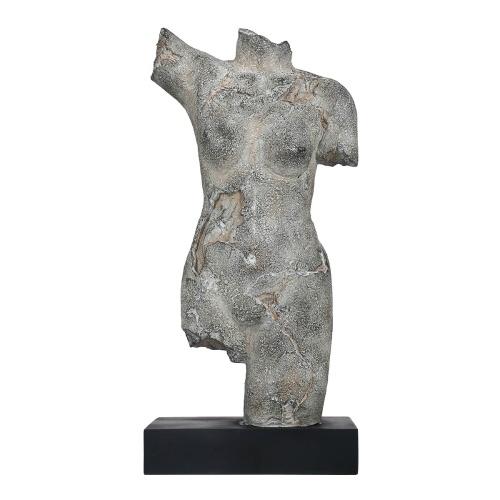 Tooarts sculpture de corps féminin imiter la sculpture sur pierre sculpture en résine artisanat vintage lumière de luxe art décoration meuble TV, salle d'étude, décoration de porche