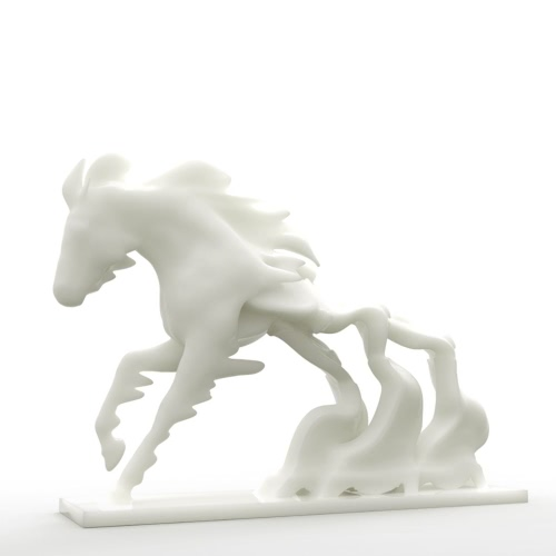 Horse Race Against Time Tomfeel 3D-Druck Skulptur Home Decoration Pferdezeit