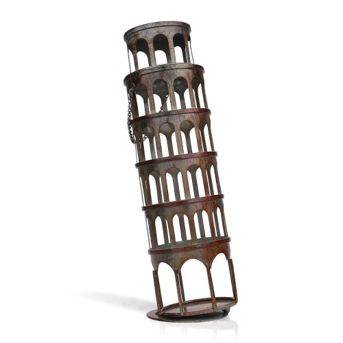 Tooarts The metal tower wine rack  Wine rack with practical and beautiful appearance  Practical ornament   Handicraft