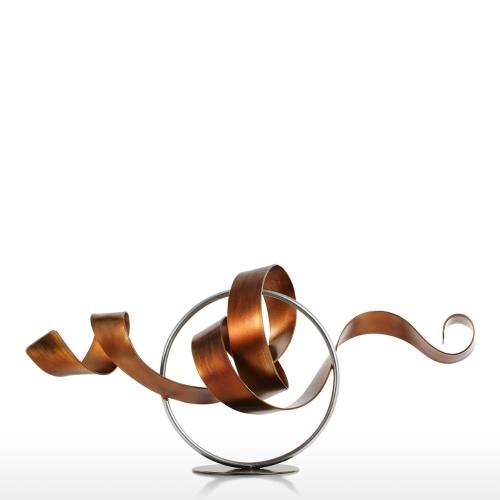 Tooarts Wriggle Modern Sculpture Abstract Sculpture Metal Sculpture Iron Home Decor Indoor-Outdoor Decor