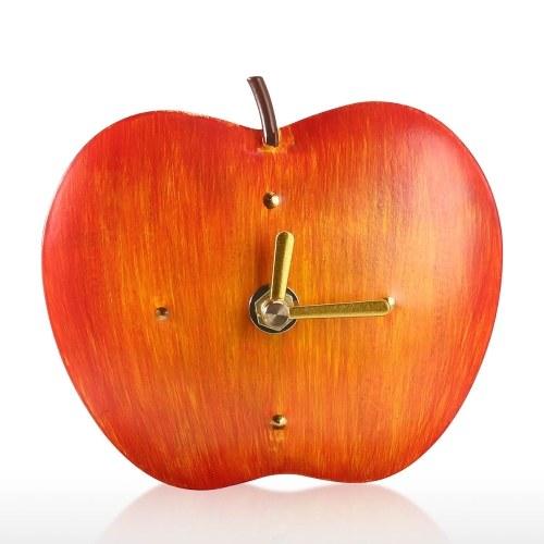 Apples Iron Clock Home Office School Decorative Creative Dual Use Clock Art One AA Battery Powered