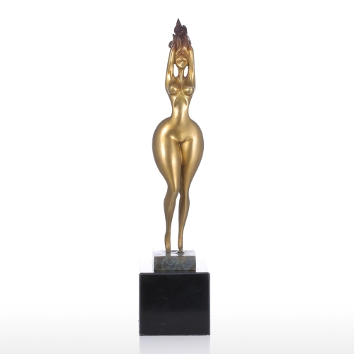 Sexy Plump Lady Tooarts Handmade Bronze Sculpture Modern Home Decor