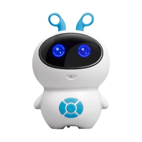 Kleine weiße intelligente Roboter Kind Begleiter Roboter synchrones Lehren WiFi Internet