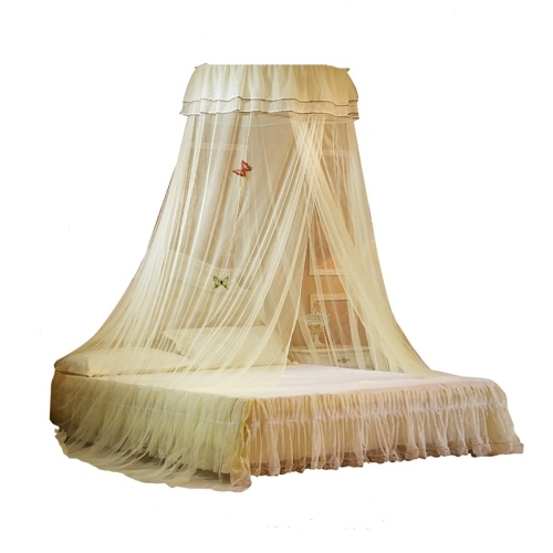 Ceiling dome mosquito net heightening encryption ceiling lace Princess fresh mosquito net