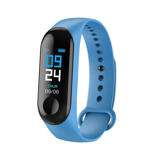 M3plus braccialetto intelligente M3 braccialetto intelligente schermo a colori braccialetto frequenza cardiaca sport passo produttori di cinturini impermeabili blu scuro carica linea