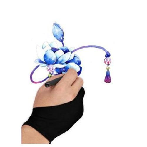 1PCS Free Size 2-Finger-Grafiktablett mit Anti-Touch-Handschuhen Professional 2-Finger-Künstler-Zeichenhandschuh für die rechte und linke Hand